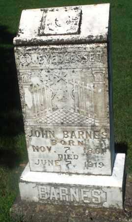 BARNES, JOHN - Newton County, Arkansas | JOHN BARNES - Arkansas Gravestone Photos