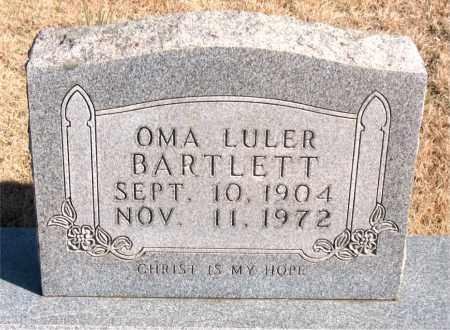 BARTLETT, OMA LULER - Newton County, Arkansas   OMA LULER BARTLETT - Arkansas Gravestone Photos