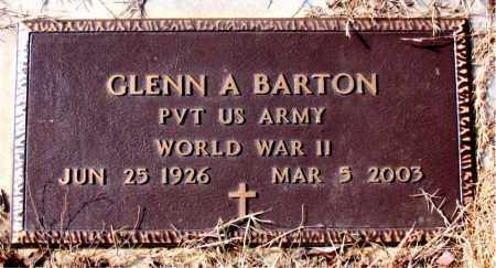 BARTON  (VETERAN WWII), GLENN A - Newton County, Arkansas | GLENN A BARTON  (VETERAN WWII) - Arkansas Gravestone Photos