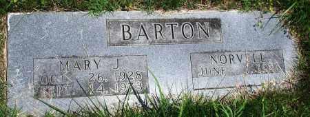 BARTON, MARY J - Newton County, Arkansas | MARY J BARTON - Arkansas Gravestone Photos