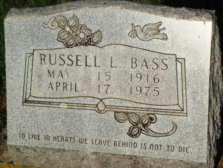 BASS, RUSSELL L - Newton County, Arkansas | RUSSELL L BASS - Arkansas Gravestone Photos