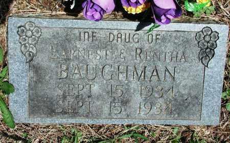 BAUGHMAN, INFANT DAUGHTER - Newton County, Arkansas   INFANT DAUGHTER BAUGHMAN - Arkansas Gravestone Photos