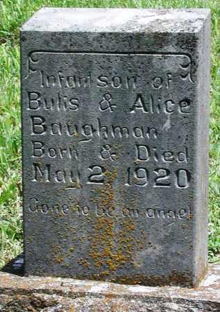 BAUGHMAN, INFANT SON - Newton County, Arkansas   INFANT SON BAUGHMAN - Arkansas Gravestone Photos