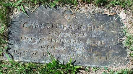 BAUGHMAN (VETERAN WWI), CARSON - Newton County, Arkansas | CARSON BAUGHMAN (VETERAN WWI) - Arkansas Gravestone Photos