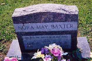 BAXTER, NORA MAY - Newton County, Arkansas   NORA MAY BAXTER - Arkansas Gravestone Photos