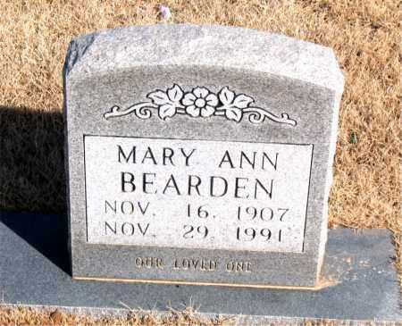 BEARDEN, MARY ANN - Newton County, Arkansas   MARY ANN BEARDEN - Arkansas Gravestone Photos