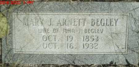 ARNETT BEGLEY, MARY - Newton County, Arkansas | MARY ARNETT BEGLEY - Arkansas Gravestone Photos
