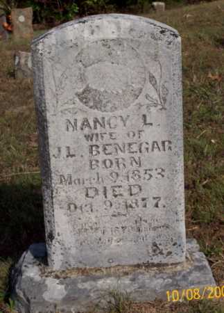 BENEGAR, NANCY L. - Newton County, Arkansas | NANCY L. BENEGAR - Arkansas Gravestone Photos