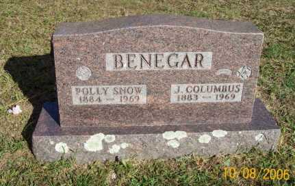 SNOW BENEGAR, POLLY - Newton County, Arkansas | POLLY SNOW BENEGAR - Arkansas Gravestone Photos
