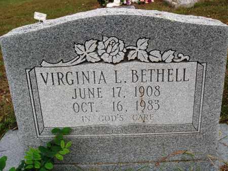 BETHELL, VIRGINIA L. - Newton County, Arkansas | VIRGINIA L. BETHELL - Arkansas Gravestone Photos