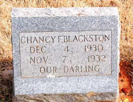 BLACKSTON, CHANCY F. - Newton County, Arkansas | CHANCY F. BLACKSTON - Arkansas Gravestone Photos