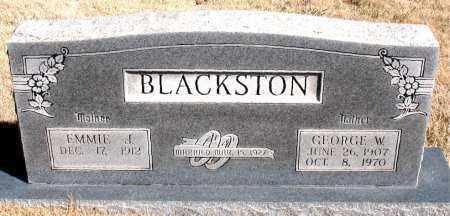 BLACKSTON, GEORGE W. - Newton County, Arkansas   GEORGE W. BLACKSTON - Arkansas Gravestone Photos