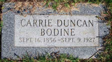 DUNCAN BODINE, CARRIE - Newton County, Arkansas | CARRIE DUNCAN BODINE - Arkansas Gravestone Photos