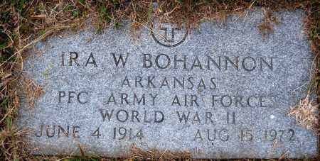 BOHANNON  (VETERAN WWII), IRA W. - Newton County, Arkansas | IRA W. BOHANNON  (VETERAN WWII) - Arkansas Gravestone Photos
