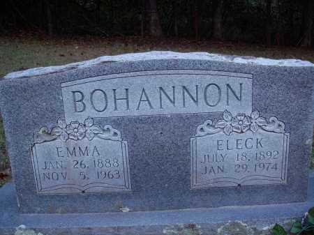 BOHANNON, EMMA - Newton County, Arkansas   EMMA BOHANNON - Arkansas Gravestone Photos