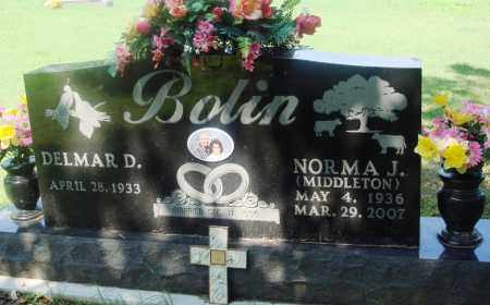 MIDDLETON BOLIN, NORMA J - Newton County, Arkansas | NORMA J MIDDLETON BOLIN - Arkansas Gravestone Photos