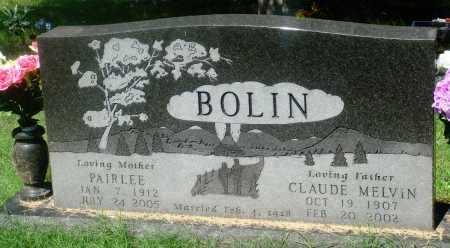 BOLIN, PAIRLEE - Newton County, Arkansas | PAIRLEE BOLIN - Arkansas Gravestone Photos