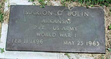 BOLIN (VETERAN WWI), MARION C - Newton County, Arkansas | MARION C BOLIN (VETERAN WWI) - Arkansas Gravestone Photos