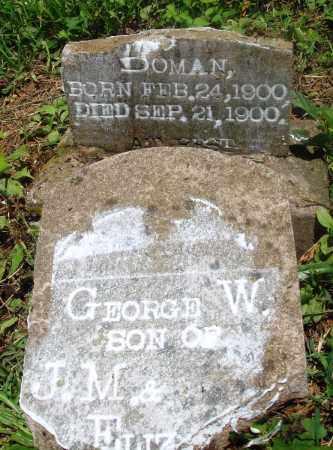 BOMAN, GEORGE W - Newton County, Arkansas   GEORGE W BOMAN - Arkansas Gravestone Photos