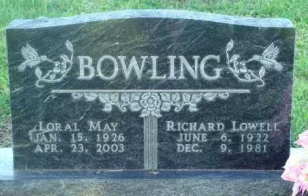 BOWLING, RICHARD LOWELL - Newton County, Arkansas | RICHARD LOWELL BOWLING - Arkansas Gravestone Photos