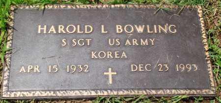 BOWLING (VETERAN KOR), HAROLD L - Newton County, Arkansas | HAROLD L BOWLING (VETERAN KOR) - Arkansas Gravestone Photos