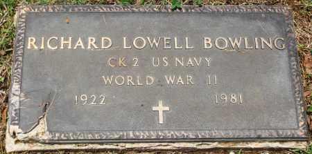 BOWLING (VETERAN WWII), RICHARD LOWELL - Newton County, Arkansas | RICHARD LOWELL BOWLING (VETERAN WWII) - Arkansas Gravestone Photos