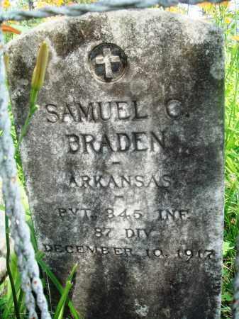 BRADEN (VETERAN), SAMUEL C - Newton County, Arkansas   SAMUEL C BRADEN (VETERAN) - Arkansas Gravestone Photos