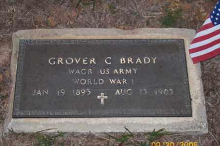 BRADY  (VETERAN WWI), GROVER C - Newton County, Arkansas | GROVER C BRADY  (VETERAN WWI) - Arkansas Gravestone Photos