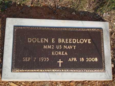 BREEDLOVE  (VETERAN KOR), DOLEN E - Newton County, Arkansas | DOLEN E BREEDLOVE  (VETERAN KOR) - Arkansas Gravestone Photos