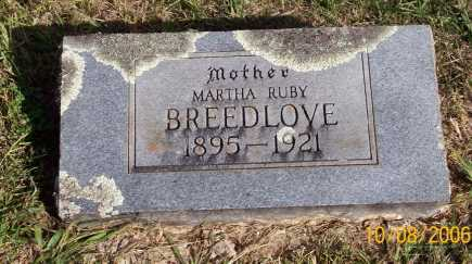 BREEDLOVE, MARTHA RUBY - Newton County, Arkansas | MARTHA RUBY BREEDLOVE - Arkansas Gravestone Photos