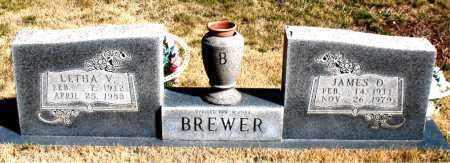 BREWER, LETHA V. - Newton County, Arkansas | LETHA V. BREWER - Arkansas Gravestone Photos