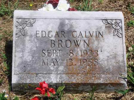 BROWN, EDGAR CALVIN - Newton County, Arkansas | EDGAR CALVIN BROWN - Arkansas Gravestone Photos
