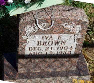 BROWN, IVA E. - Newton County, Arkansas | IVA E. BROWN - Arkansas Gravestone Photos