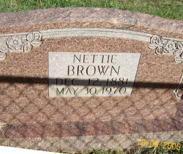 BROWN, NETTIE - Newton County, Arkansas | NETTIE BROWN - Arkansas Gravestone Photos