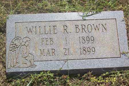 BROWN, WILLIE R. - Newton County, Arkansas | WILLIE R. BROWN - Arkansas Gravestone Photos