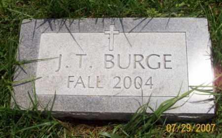 BURGE, J. T. - Newton County, Arkansas | J. T. BURGE - Arkansas Gravestone Photos