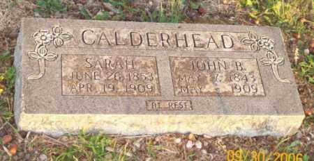 CALDERHEAD, SARAH - Newton County, Arkansas   SARAH CALDERHEAD - Arkansas Gravestone Photos