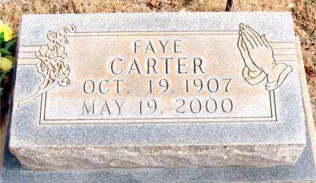 CARTER, FAYE - Newton County, Arkansas | FAYE CARTER - Arkansas Gravestone Photos