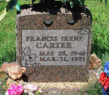 CARTER, FRANCIS IRENE - Newton County, Arkansas | FRANCIS IRENE CARTER - Arkansas Gravestone Photos