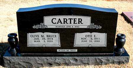 BRUCE CARTER, OLIVE M. - Newton County, Arkansas | OLIVE M. BRUCE CARTER - Arkansas Gravestone Photos