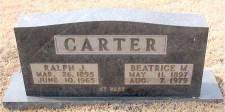 CARTER, RALPH J. - Newton County, Arkansas   RALPH J. CARTER - Arkansas Gravestone Photos