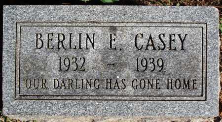 CASEY, BERLIN E. - Newton County, Arkansas | BERLIN E. CASEY - Arkansas Gravestone Photos