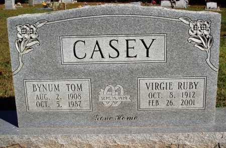 CASEY, BYNUM TOM - Newton County, Arkansas   BYNUM TOM CASEY - Arkansas Gravestone Photos