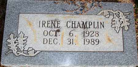 CHAMPLIN, BESSIE IRENE - Newton County, Arkansas   BESSIE IRENE CHAMPLIN - Arkansas Gravestone Photos