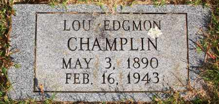 EDGMON CHAMPLIN, LOU - Newton County, Arkansas | LOU EDGMON CHAMPLIN - Arkansas Gravestone Photos