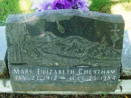 CHEATHAM, MARY ELIZABETH - Newton County, Arkansas | MARY ELIZABETH CHEATHAM - Arkansas Gravestone Photos