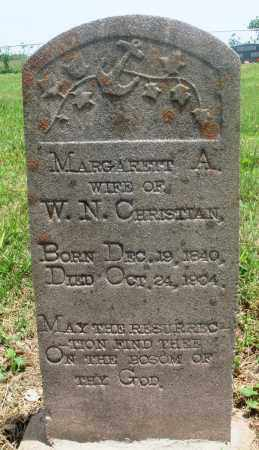 MCFARLIN CHRISTIAN, MARGARET A - Newton County, Arkansas | MARGARET A MCFARLIN CHRISTIAN - Arkansas Gravestone Photos