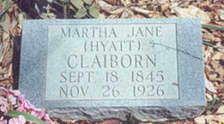 CLAIBORN, MARTHA JANE - Newton County, Arkansas | MARTHA JANE CLAIBORN - Arkansas Gravestone Photos