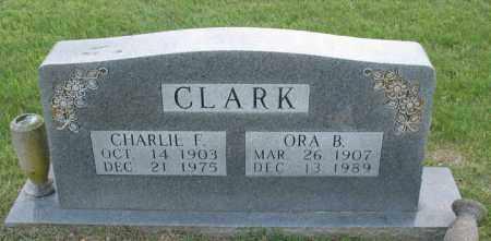 CLARK, CHARLIE F. - Newton County, Arkansas | CHARLIE F. CLARK - Arkansas Gravestone Photos