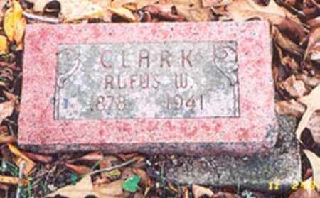 CLARK, RUFUS W. - Newton County, Arkansas | RUFUS W. CLARK - Arkansas Gravestone Photos